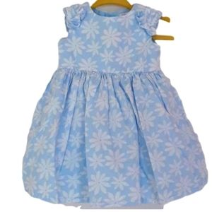 Carter's Baby Girl Blue and White Flower Formal